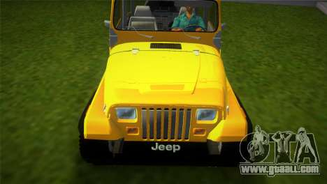 Jeep Wrangler 1986 v4.0 Fury for GTA Vice City right view