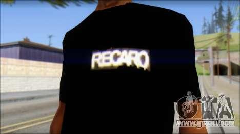 Recaro T-Shirt for GTA San Andreas third screenshot