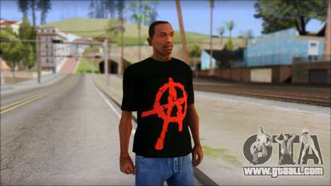 Anarchy T-Shirt Mod v2 for GTA San Andreas
