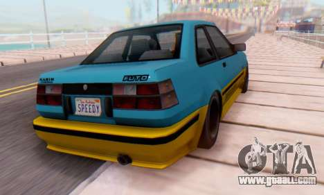 Karin Futo for GTA San Andreas back left view