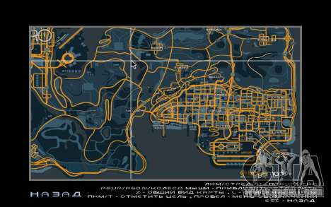 Map racing style Trace Map for GTA San Andreas second screenshot