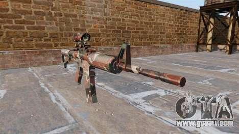 Automatic carbine MA Forest Camo for GTA 4