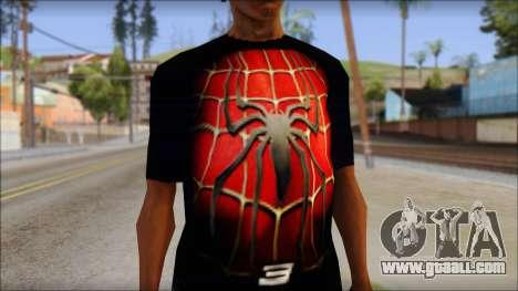 Spiderman 3 T-Shirt for GTA San Andreas third screenshot