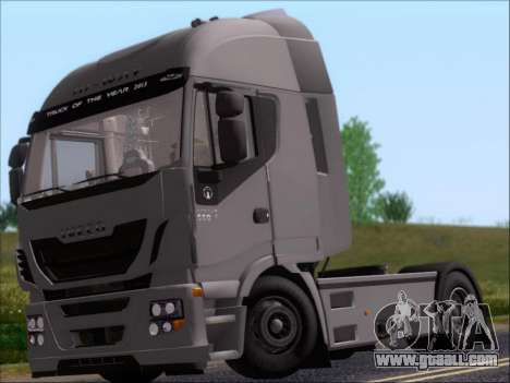 Iveco Stralis HiWay 560 e6 4x2 for GTA San Andreas back left view