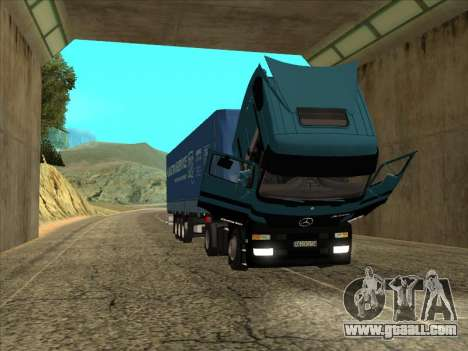 Mercedes-Benz Actros 1840 for GTA San Andreas right view