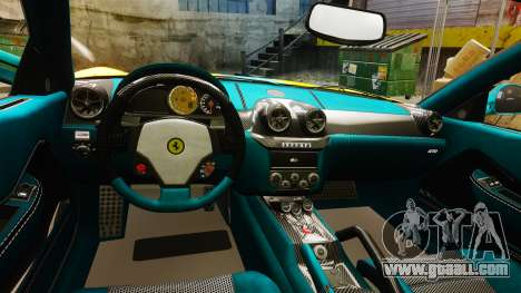 Ferrari 599 GTO PJ2 for GTA 4 inner view