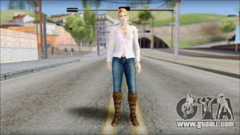 Sarah from Dead or Alive 5 v4 for GTA San Andreas