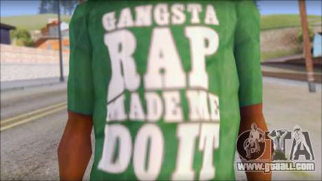 Ice Cube T-Shirt for GTA San Andreas third screenshot