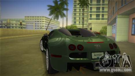 Bugatti Veyron for GTA Vice City left view