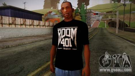 Room 401 T- Shirt for GTA San Andreas