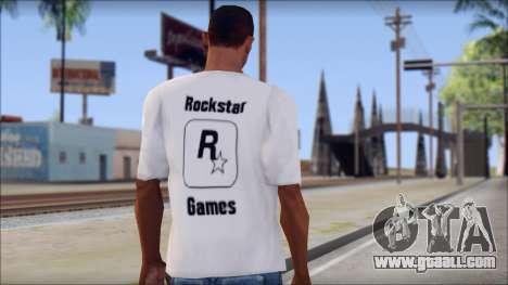 Rockstar Games White T-Shirt for GTA San Andreas