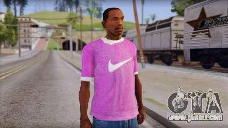 NIKE Pink T-Shirt for GTA San Andreas