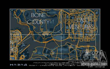 Map racing style Trace Map for GTA San Andreas