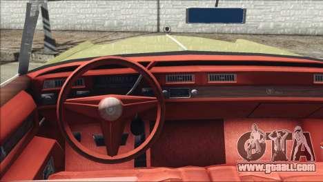Cadillac Eldorado Stock for GTA San Andreas back left view