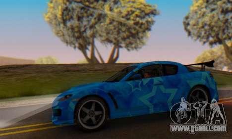 Mazda RX-8 VeilSide Blue Star for GTA San Andreas inner view