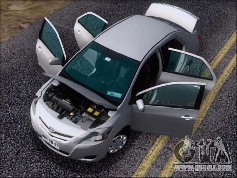 Toyota Yaris 2008 Sedan for GTA San Andreas upper view