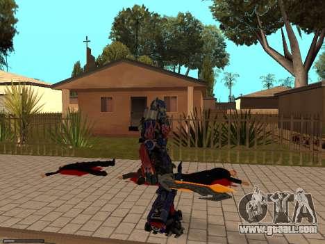 Optimus Sword for GTA San Andreas fifth screenshot