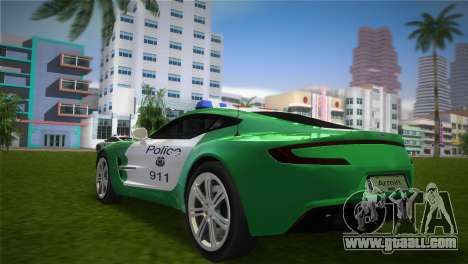 Aston Martin One-77 police for GTA Vice City left view