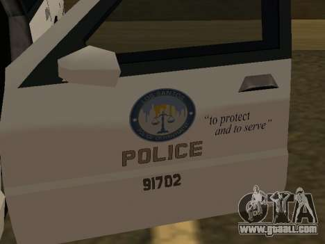 Police Original Cruiser v.4 for GTA San Andreas side view