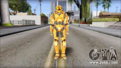 Masterchief Orange for GTA San Andreas second screenshot