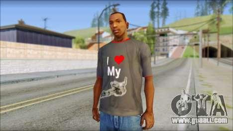 I love my gun T-Shirt for GTA San Andreas