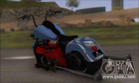 Boss Hoss v8 8200cc for GTA San Andreas back left view