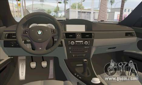 BMW M3 E92 Soft Tuning for GTA San Andreas inner view