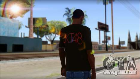 JKT48 Joyfull Kawai Shirt for GTA San Andreas second screenshot