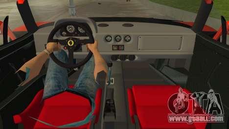 Ferrari F40 for GTA Vice City right view