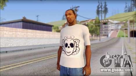 Skull Butterfly T-Shirt for GTA San Andreas