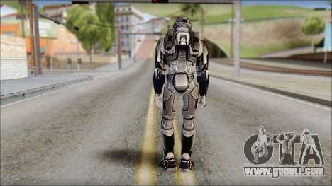Masterchief Black from Halo for GTA San Andreas second screenshot