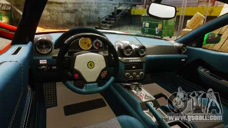 Ferrari 599 GTO PJ4 for GTA 4 inner view