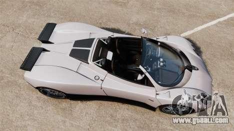 Pagani Zonda C12S Roadster 2001 v1.1 PJ2 for GTA 4 right view