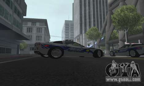Chevrolet Corvette Z06 Police for GTA San Andreas right view