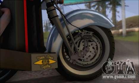 Boss Hoss v8 8200cc for GTA San Andreas inner view
