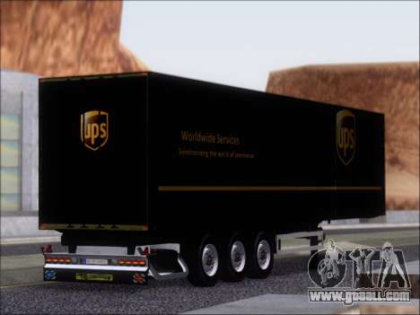 Прицеп United Parcel Service for GTA San Andreas right view