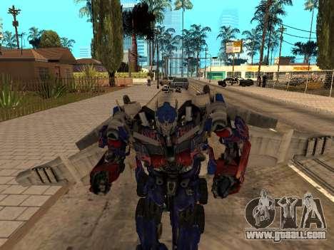 Optimus Jetpack for GTA San Andreas forth screenshot