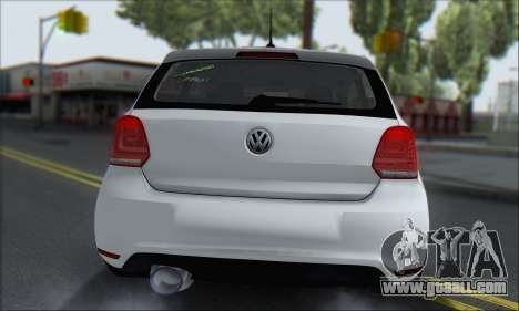 Volkswagen Polo for GTA San Andreas back view