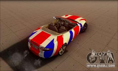 Jaguar XK 2007 for GTA San Andreas back view