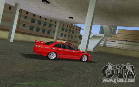 Mitsubishi Lancer Evolution 6 Tommy Makinen Edit for GTA Vice City back left view