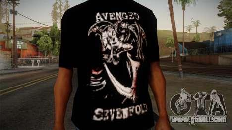 Avenged Sevenfold Reaper Reach T-Shirt for GTA San Andreas third screenshot