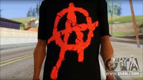 Anarchy T-Shirt Mod v2 for GTA San Andreas third screenshot