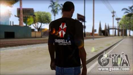 Umbrella Corporation Black T-Shirt for GTA San Andreas second screenshot
