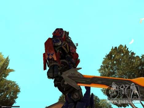 Optimus Sword for GTA San Andreas forth screenshot