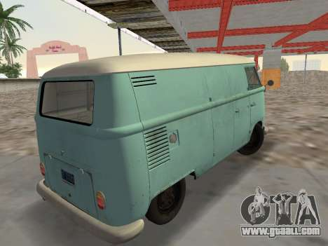 Volkswagen Type 2 T1 Van 1967 for GTA Vice City left view