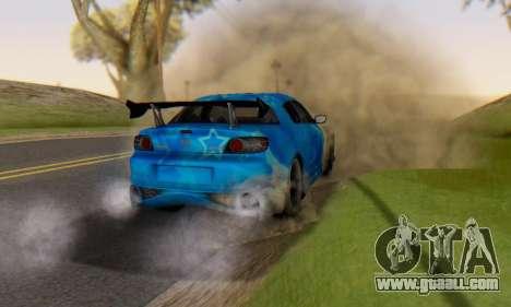 Mazda RX-8 VeilSide Blue Star for GTA San Andreas upper view