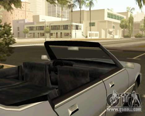 Sentinel Convertible for GTA San Andreas right view