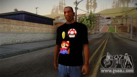 Mario Bros T-Shirt for GTA San Andreas