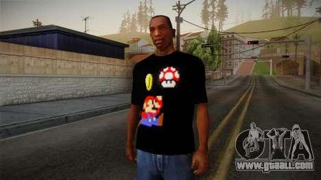 Mario Bros T-Shirt for GTA San Andreas