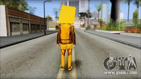 Robot Head LMFAO for GTA San Andreas second screenshot